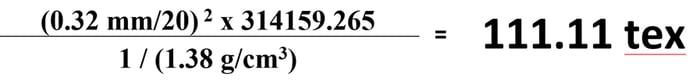 Yarn Denisty Equation-1