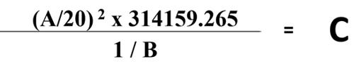 Yarn Diameter Equation-1