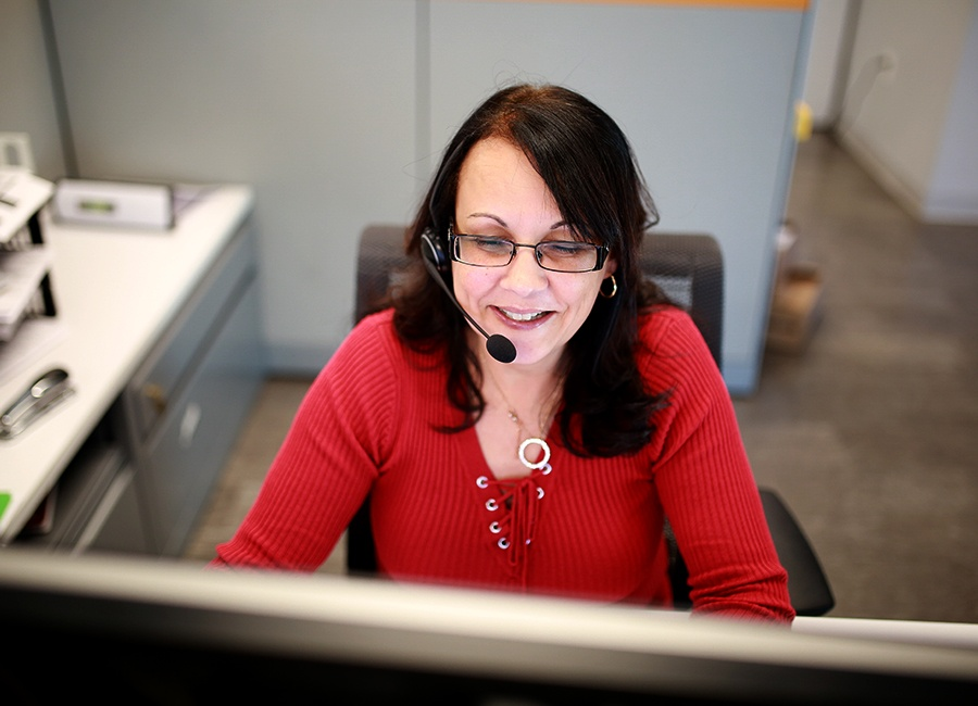 Service Thread customer service rep Pam Hunt