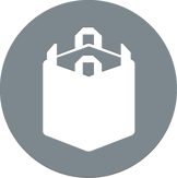 Textile bag packaging icon